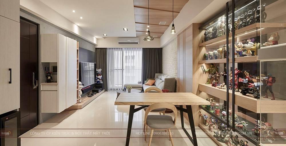thiết kế thi công nội thất chung cư hiện đại và cá tính