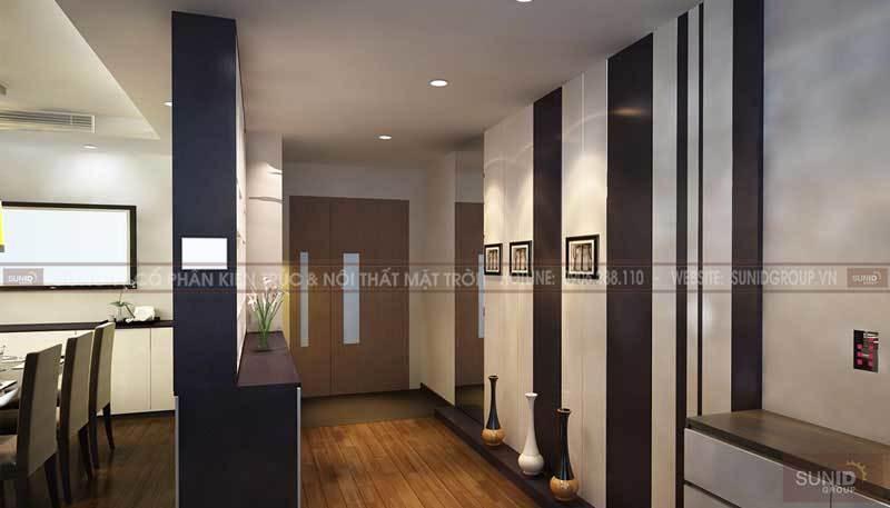Thiết kế nội thất chung cư GREEN PARK Hòa Bình nhà A Tuấn