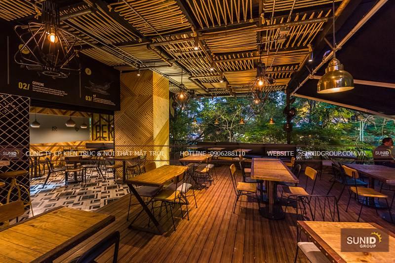 Thiết kế nội thất cafe đẹp tại Paradiso Resort