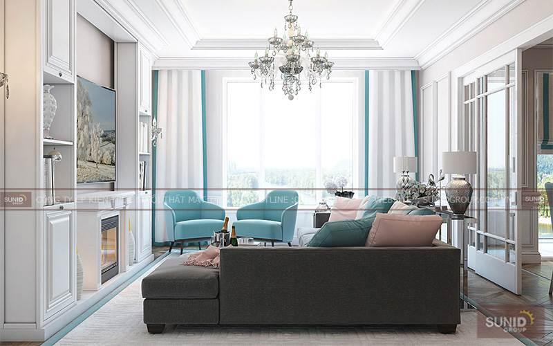 Thiết kế nội thất chung cư tại Gemek