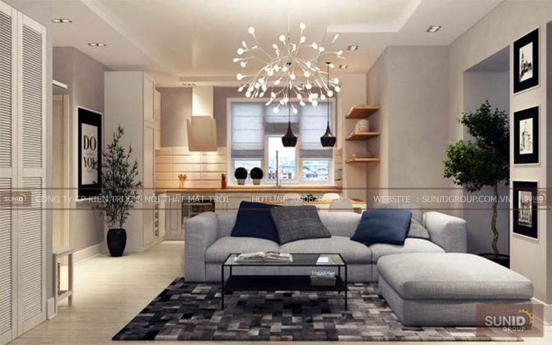 Thiết kế nội thất chung cư hiện đại tại Thăng Long Victory C. Liễu