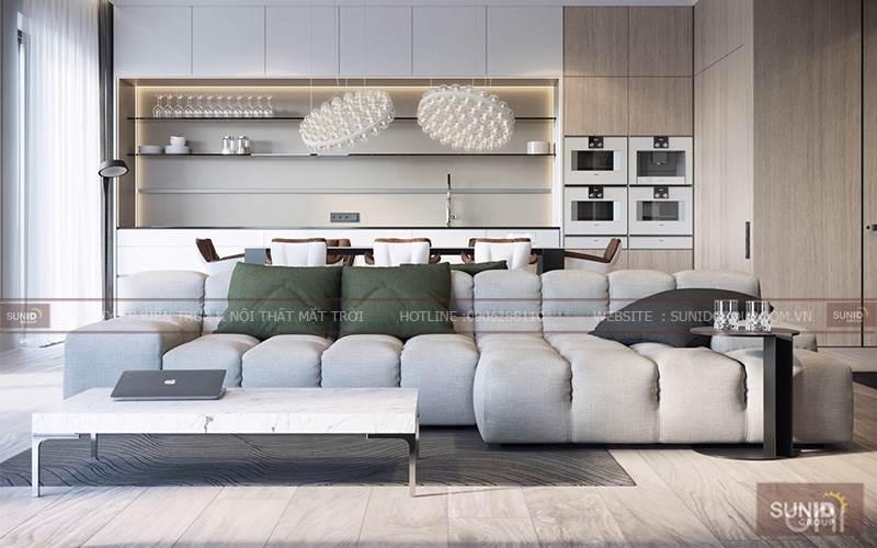 Thiết kế nội thất chung cư tại Pacific Place Lý Thường Kiệt A.Dũng