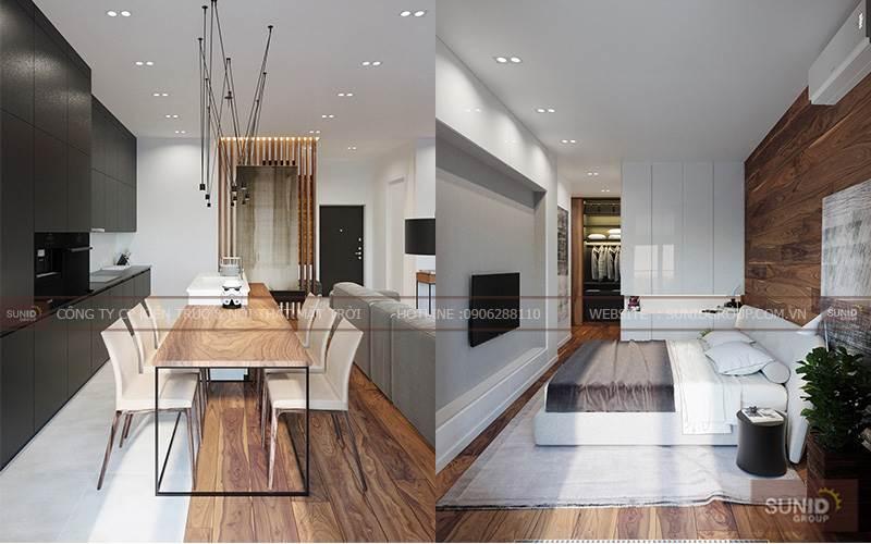 Thiết kế nội thất chung cư tại Paragon Tower A Tuấn