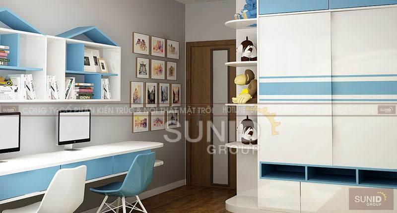 Thiết kế nội thất chung cư hiện đại căn E chung cư THEPIDE C.Mai