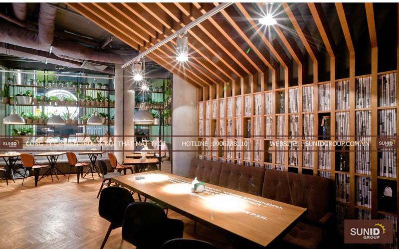 Thiết kế nội thất cafe Mộc tại Lan Rừng Resort