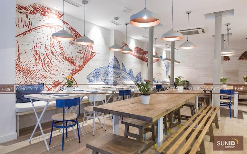 Thiết kế nhà hàng sang trọng hiện đại tại Quảng Ninh