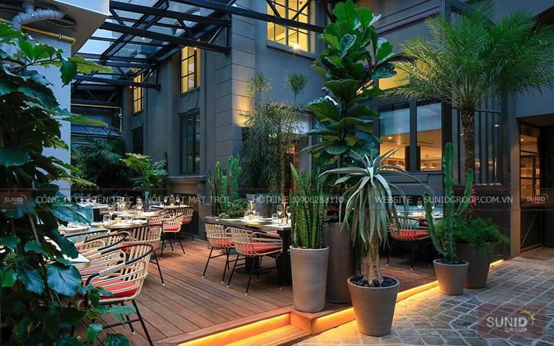 Thiết kế nội thất cafe sân vườn đẹp tại La Mer Resort