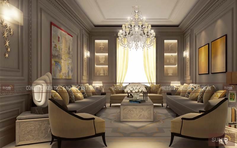 Thiết kế nội thất biệt thự TASCO Xuân Phương anh Ninh