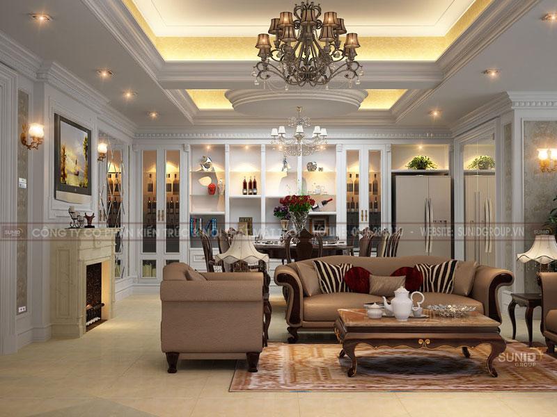 Thiết kế nội thất nhà liền kề FLC Garden City nhà Chị MAi