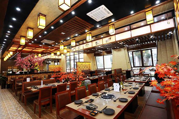 nội thất nhà hàng Sashimi BBQ Garden