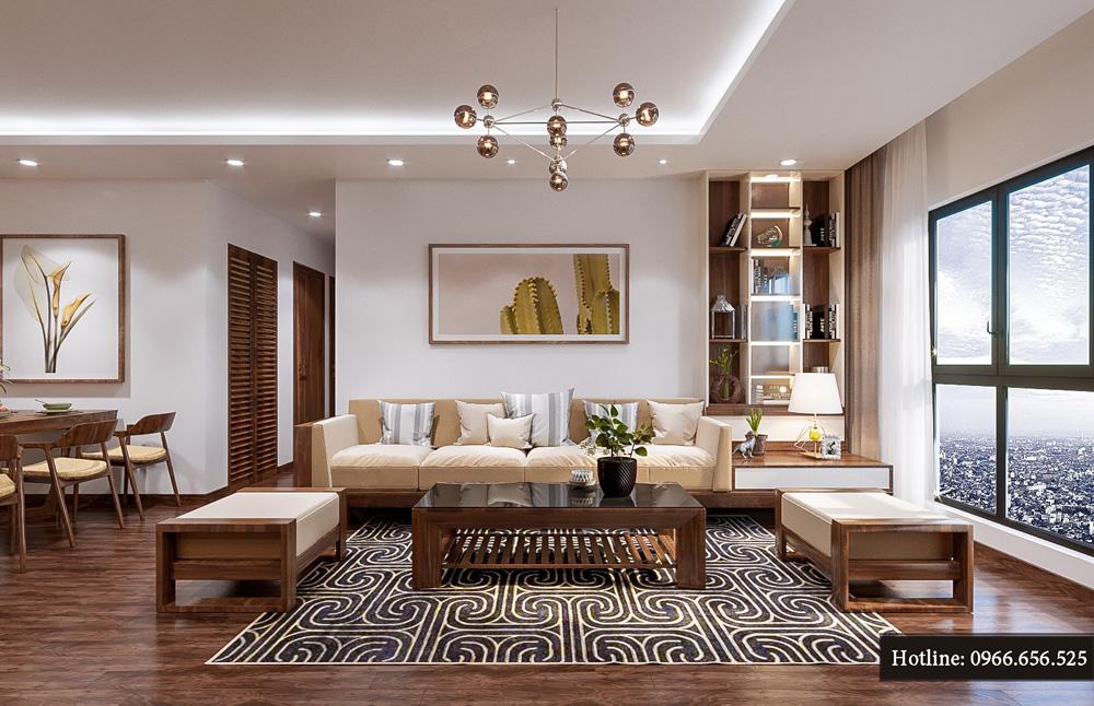 thiết kế nội thất chung cư ct8 mỹ đình 12