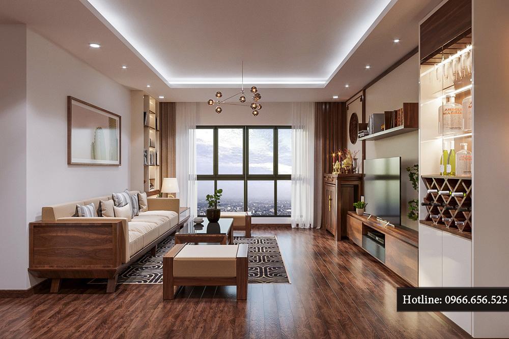 thiết kế nội thất chung cư ct8 mỹ đình 14