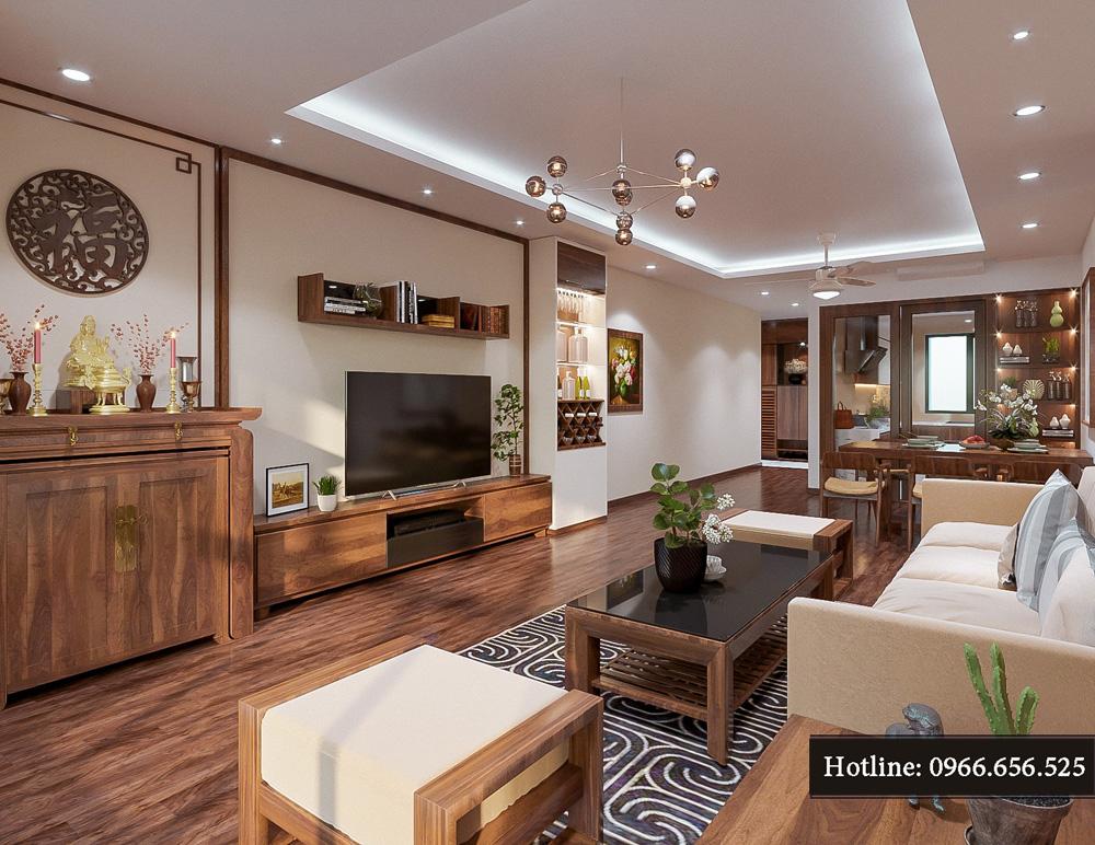 thiết kế nội thất chung cư ct8 mỹ đình 2