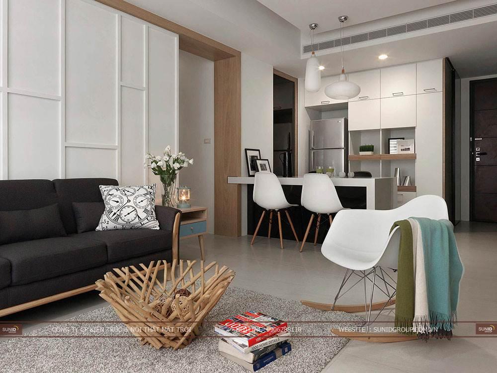 Thi công nội thất chung cư Tràng An Complex C. Vân