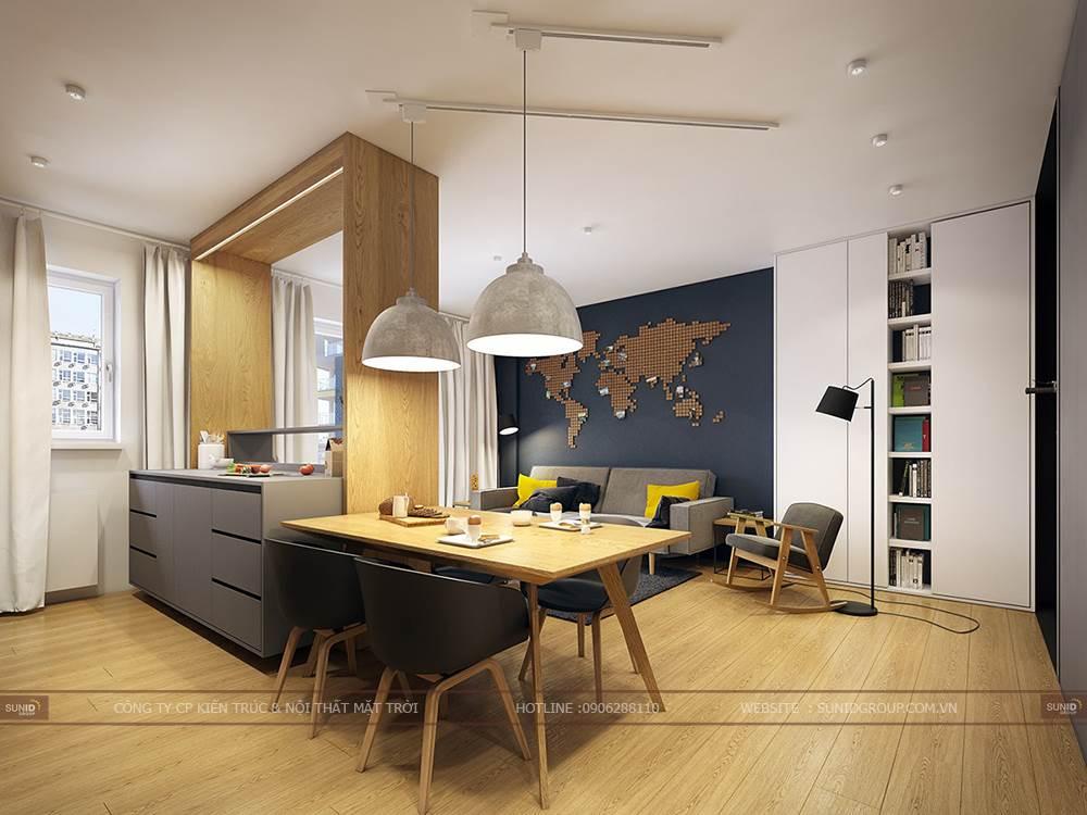 Thi công cải tạo nội thất chung cư Eco Green City A. Thanh