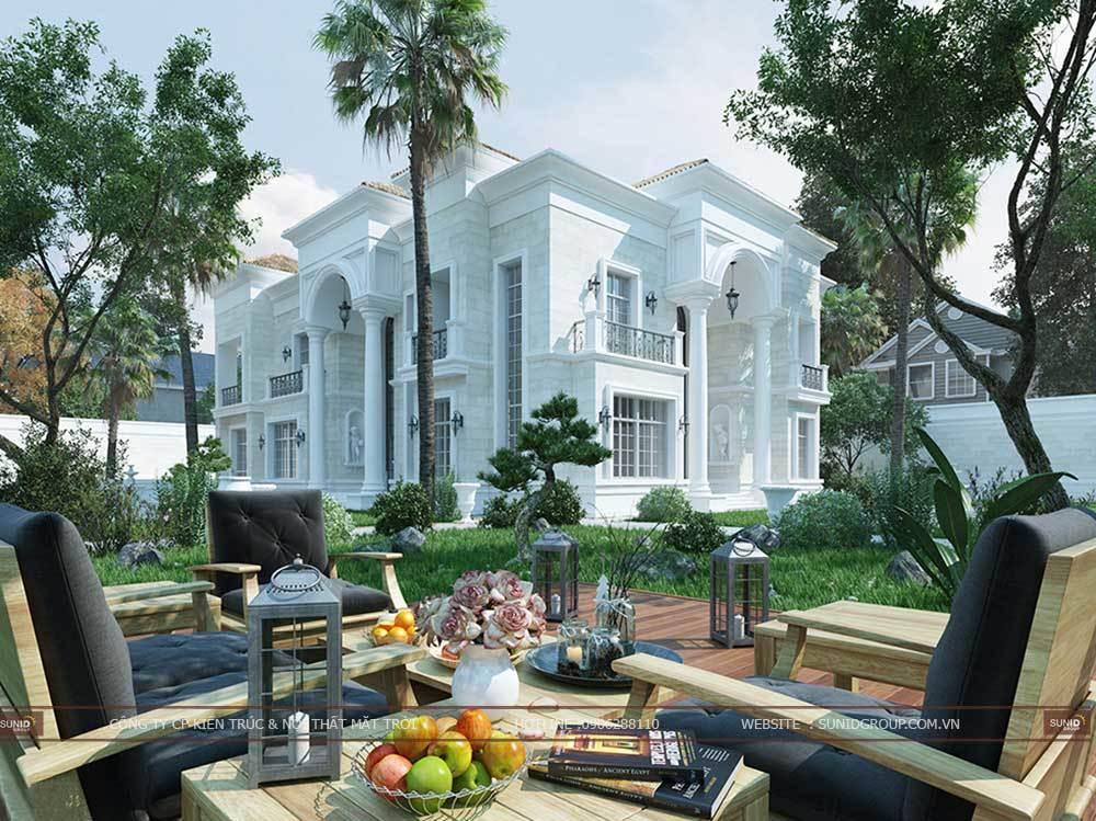 Thiết kế kiến trúc biệt thự Đại Lải Vĩnh Phúc