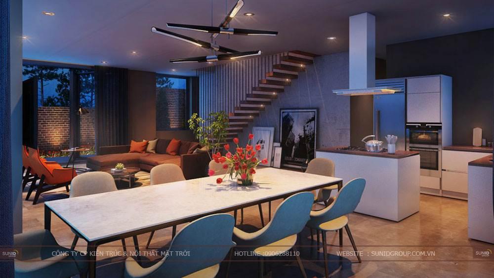 Thiết kế nội thất biệt thự Tam Đảo
