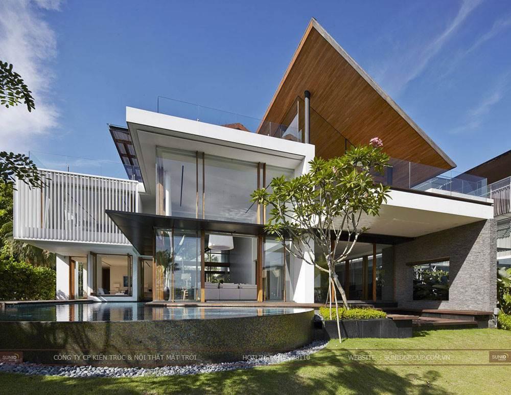 Thiết kế kiến trúc và nội thất biệt thự Sóc Sơn – Hà Nội anh Tuấn