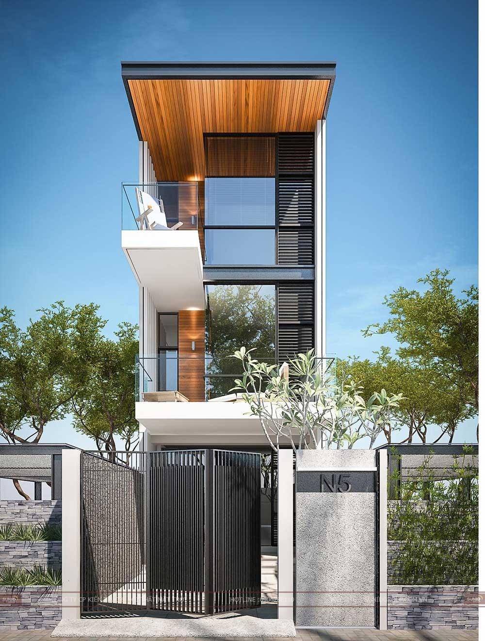 Thiết kế nhà phố 3 tầng 3 phòng ngủ trọn gói cho anh Lĩnh Thanh Xuân