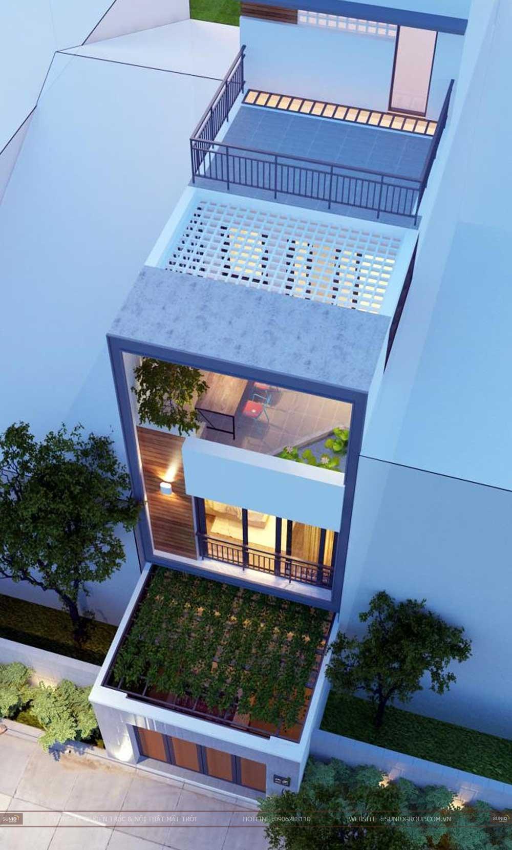 Thiết kế nhà phố hiện đại cho chị Nguyễn Hồng Phượng