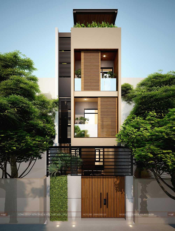 Thiết kế nhà phố 5 tầng với diện tích 5x18m đẹp nhất