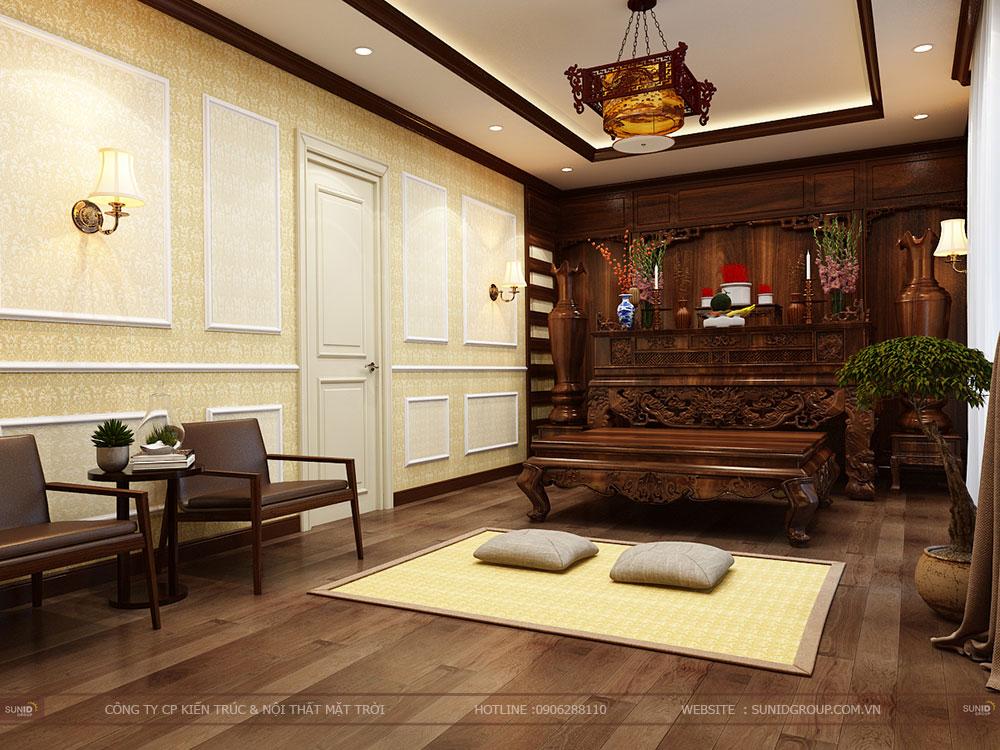 Thiết kế nội thất biệt thự hateco Xuân Phương