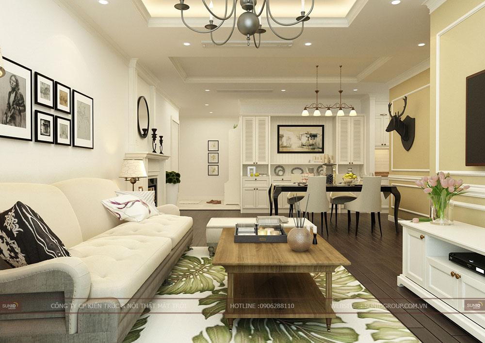 Thiết kế nội thất chung cư Mandarin Garden 2 Tân Mai