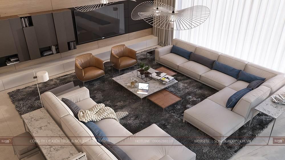 Thiết kế nội thất một ngôi nhà với chủ đề thiên nhiên