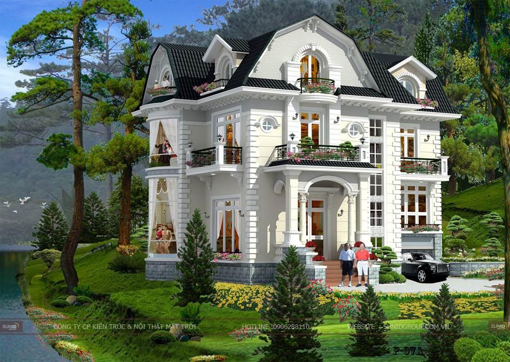 Phong thủy thiết kế nhà với phong cách mái nhà