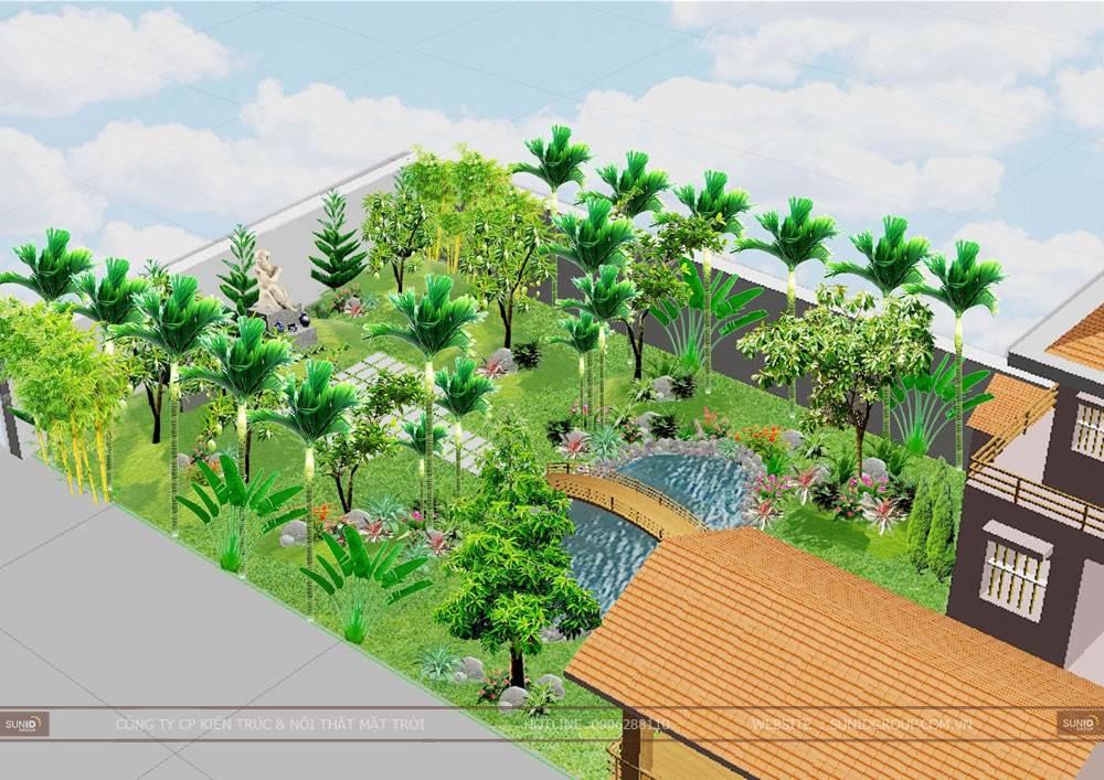 Thiết kế tiểu cảnh sân vườn hợp phong thủy