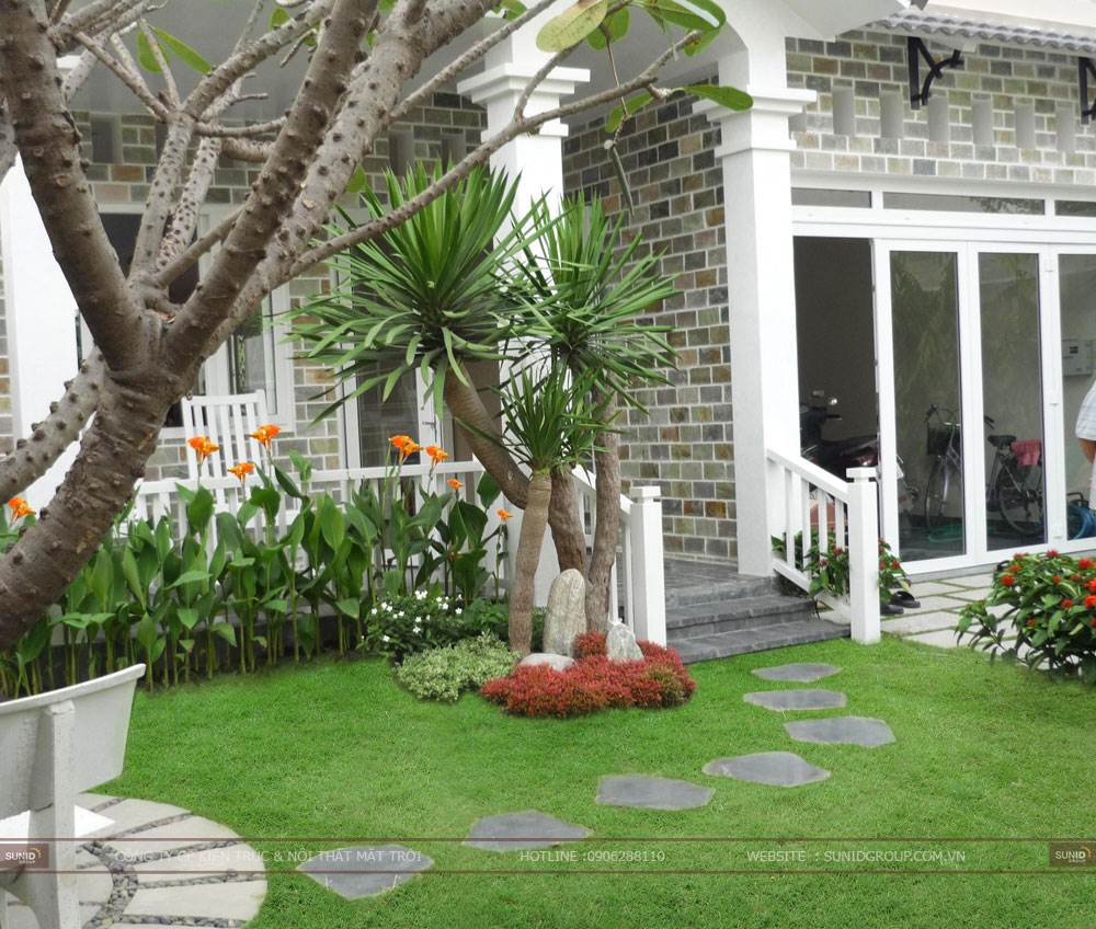 Thiết kế tiểu cảnh sân vườn cho biệt thự