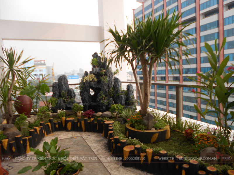 cThiết kế tiểu cảnh sân vườn