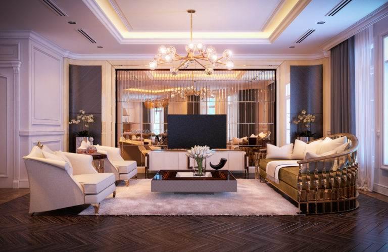 Thiết kế nội thất biệt thự KĐT mới Dịch Vọng