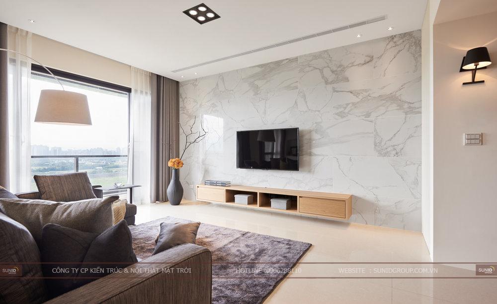 Thiết kế nội thất chung cư tươi sáng và hiện đại