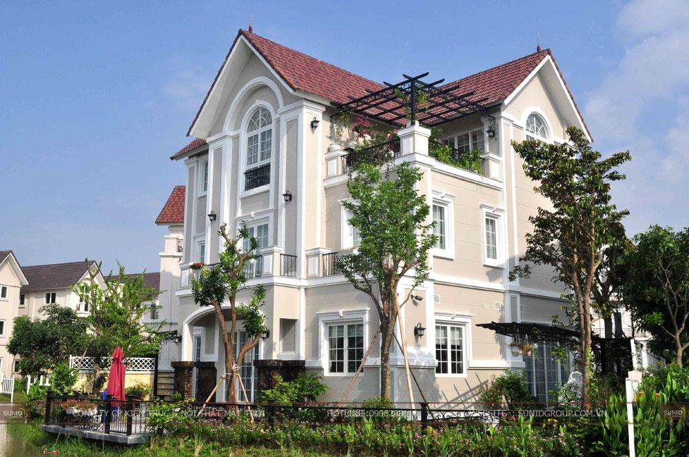20 Mẫu thiết kế kiến trúc biệt thự 3 tầng mái thái hiện đại