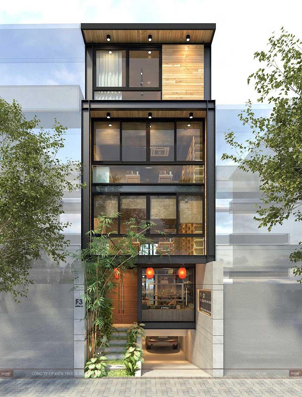 Thiết kế nhà phố kết hợp làm nhà hàng cho anh Bùi Tuấn