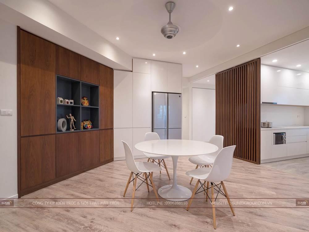 Thiết kế thi công căn hộ chung cư căn hộ có diện tích nhiều góc chéo