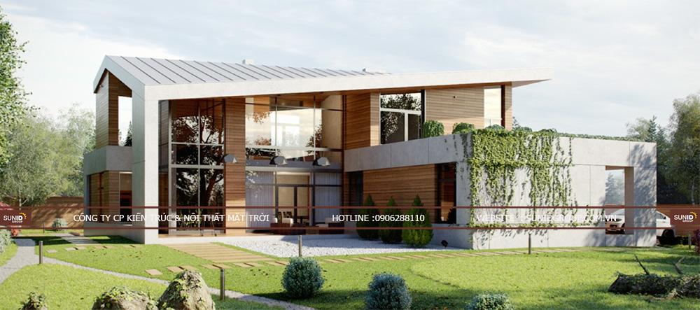 Thiết kế kiến trúc và nội thất biệt thự Dabaco - Bắc Ninh