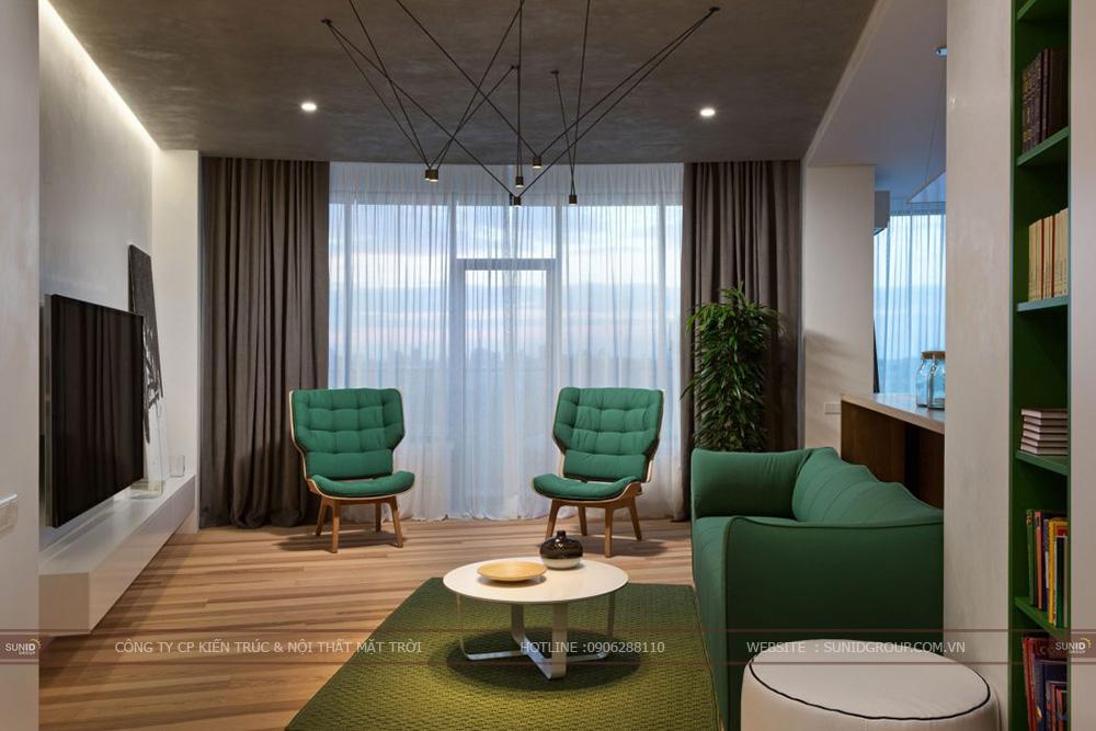 Thiết kế nội thất chung cư Booyoung Vina Khu đô thị Mỗ Lao – Hà Đông