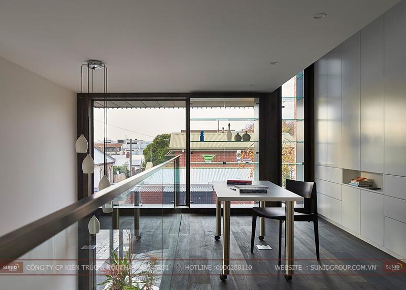 Thiết kế thi công nội thất nhà phố đẹp mộc mạc