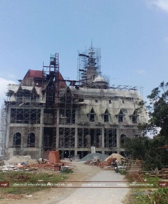 Thi công xây dựng lâu đài Tam Đảo