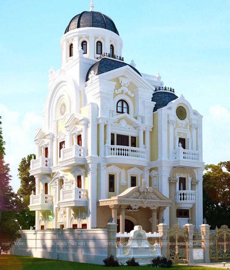 Thiết kế biệt thự cổ điển – Phong cách Châu Âu