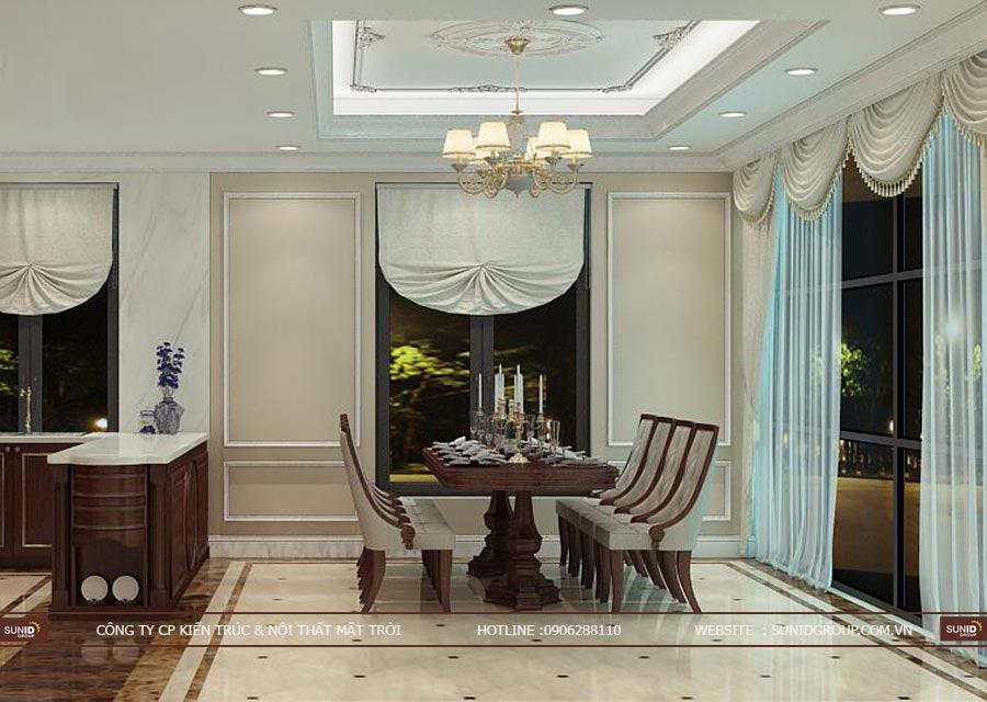 Thiết kế nội thất biêt thự đơn lập STARLAKE Tây Hồ Tây – Tân cổ điển