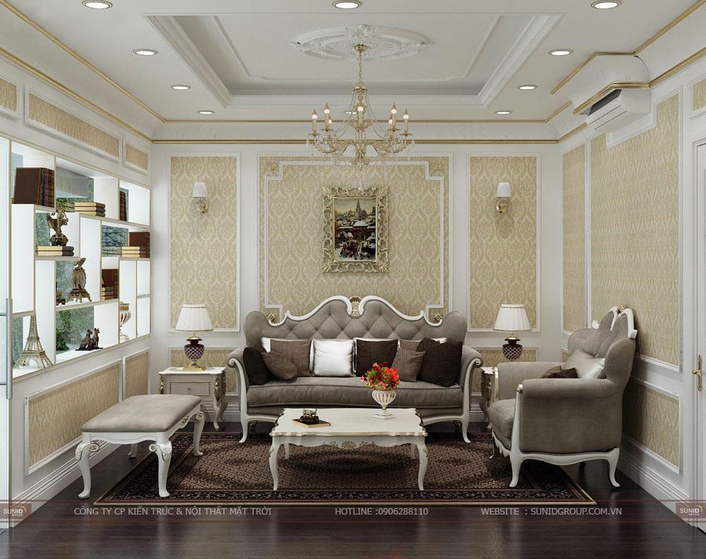 Thiết kế nội thất chung cư Sunshine City Tây Hồ – Tân cổ điển