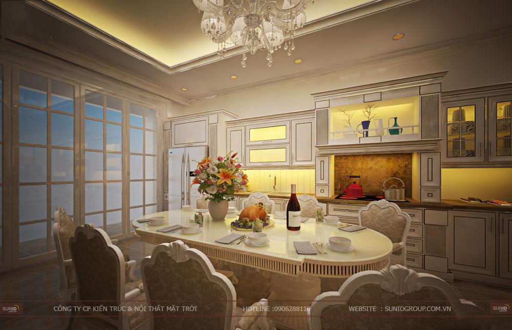 Thiết kế nội thất nhà phố tân cổ điển