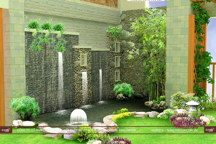 Thiết kế cảnh quan sân vườn đẹp tươi mát