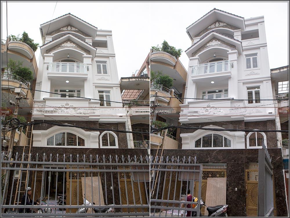 Thiết kế thi công biệt thự phố tại Thái Bình anh Toàn