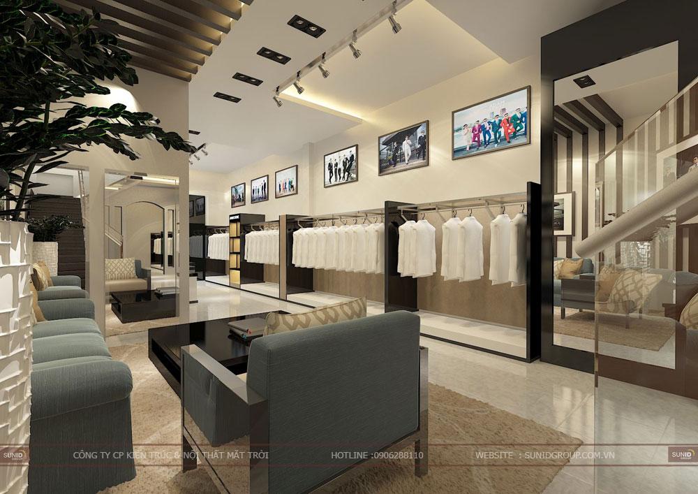 Thiết kế thi công nội thất cửa hàng Shop quần áo
