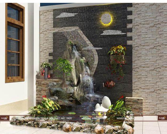 Có nên thiết kế thác nước tiểu cảnh ở trong nhà hay không?