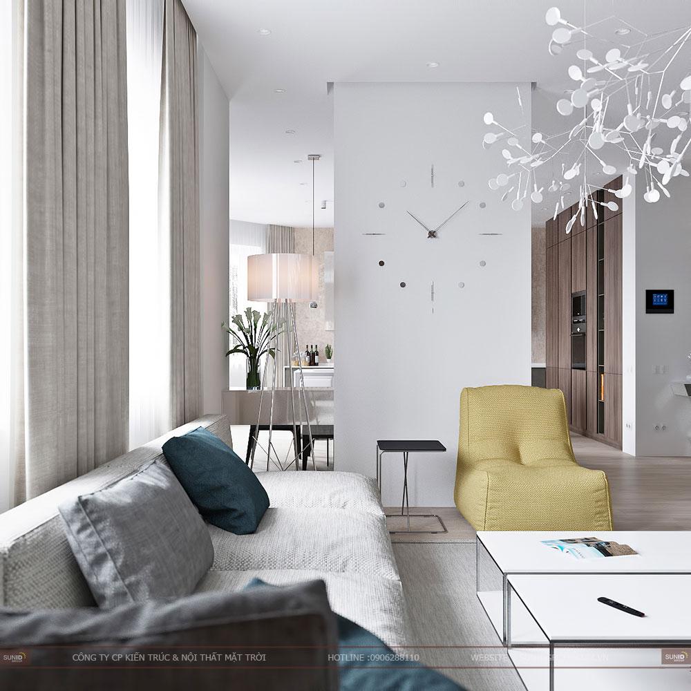 Thiết kế nội thất chung cư C2 Xuân Đỉnh